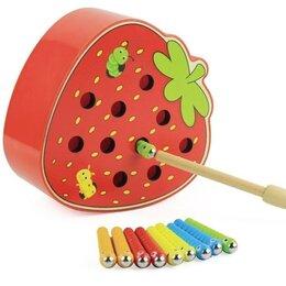 """Развивающие игрушки - Магнитная рыбалка """"Поймай червяка"""" , 0"""