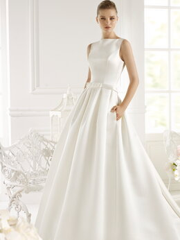 Платья - Атласное свадебное платье GENET размер 44,46,48, 0
