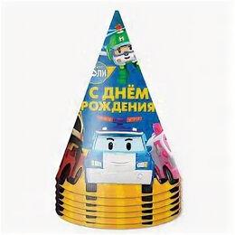 Машинки и техника - Колпаки, Робокар Поли, С Днем Рождения! 6шт, 0