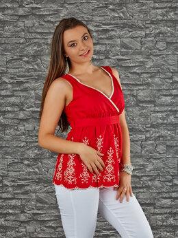 Блузки и кофточки - Блуза из хлопка с шитьём, 0