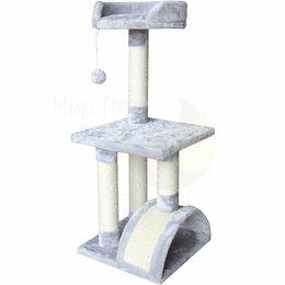 Туалеты и аксессуары  - Когтеточка-комплекс 36х36х88 см, светло-серый…, 0