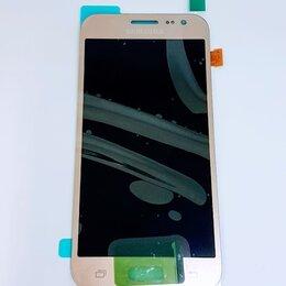 Дисплеи и тачскрины - Дисплей Samsung J200 Galaxy J2 модуль золотистый Gold GH97-17940B Оригинал, 0