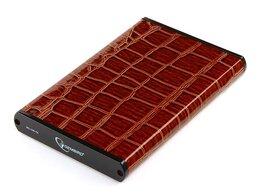 """Внешние жесткие диски и SSD - Внешний корпус 2.5"""" Gembird EE2-U3S-70L-BR коричне, 0"""