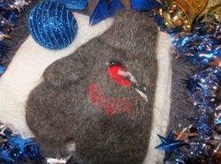 Перчатки и варежки - Варежки с орнаментом шерстяные+пух , 0