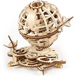 Пазлы - Глобус,  деревянный 3D-пазл, 0