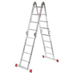 Лестницы и стремянки - Лестница шарнирная алюминиевая 4х4 ступени, 0