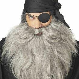Карнавальные и театральные костюмы - Седые борода и усы пирата новые, 0