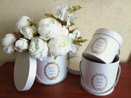 Свадебные украшения - Белые шляпные круглые коробки набор 3 шт, 0