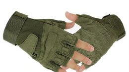 Перчатки и варежки - Перчатки тактические беспалые Blackhawk, олива, 0