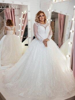 Платья - Свадебное платье блестящее размер Лив 52-54, 0