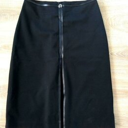 Юбки - Черная юбка 40-42 размера, 0