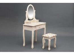 Столы и столики - Туалетный столик с зеркалом и табуретом Secret…, 0