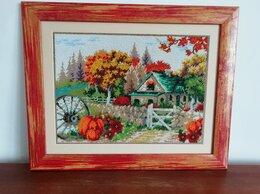 """Картины, постеры, гобелены, панно - Картина,  вышитая чешским бисером """"Осенний день"""", 0"""