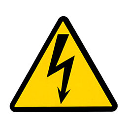 "Товары для электромонтажа - Cимвол ""Молния"", 45х45х45 мм, самоклеящаяся этикетка, электрика, электричество, 0"