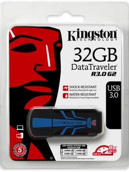 USB Flash drive - Флэшка USB3 0 32 GB Kingston DataTraveler Blue, 0