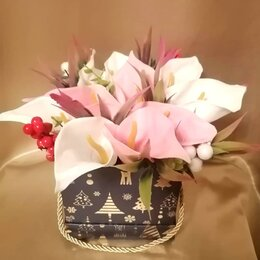 Цветы, букеты, композиции - Букет из мыльных калл, 0