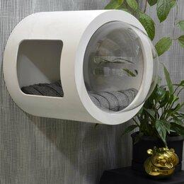 Лежаки, домики, спальные места - Настенный домик -капсула, размер М, 0