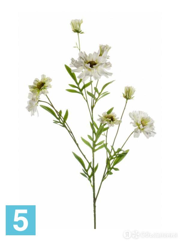 Искусственный цветок для декора Гелениум ветка 85h белый по цене 979₽ - Искусственные растения, фото 0