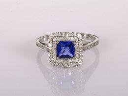 Кольца и перстни - Кольцо с бриллиантами и сапфиром С, 0
