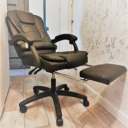 Компьютерные кресла - Кресло руководителя с массажером (новое), 0