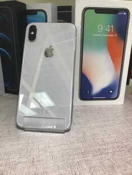 Мобильные телефоны - iPhone X Silver 256gb б/у Ростест, 0