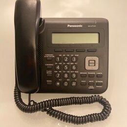 Системные телефоны - Panasonic KX-UT123RU - проводной SIP (VoIP) телефон, черный. Б/у в наличии, 0