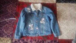 Куртки и пуховики - Джинсовая куртка с мехом для девочки, 0