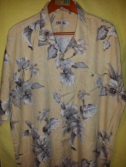 Рубашки - Burma Bibas Tropical Leaf-Print Silk Shirt XXL, 0