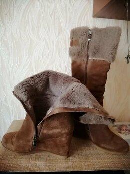 Сапоги - Сапоги зимние, 36 размер, натуральная замша,…, 0