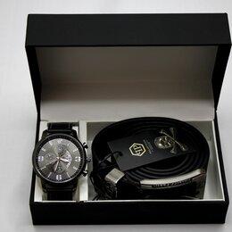 Подарочные наборы - Мужской набор часы и ремень Philipp Plein, 0