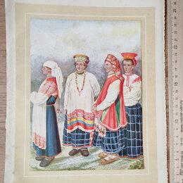 Картины, постеры, гобелены, панно - гравюра Национальный наряд, 19 век, 0