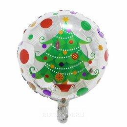 """Украшения и бутафория - Воздушный шарик 18""""/45см Новогодняя елка фольгированный, 0"""