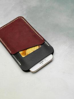 Чехлы - Чехол для телефона с двумя карманами под карты, 0