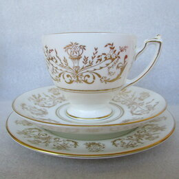 Бокалы и стаканы - чайное трио костяной фарфор Коалпорт Coalport England, 0