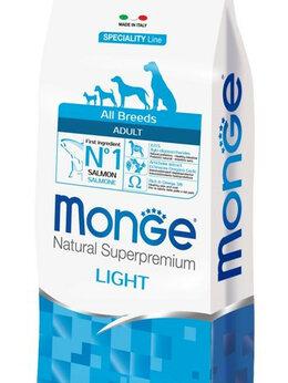 Корма  - Monge Dog Speciality Light для собак всех пород…, 0