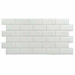 Стеновые панели - Панель ПВХ плитка - Кабанчики, белая, 96х48,5 см, 0