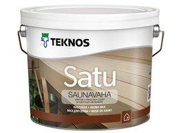 Масла и воск - Воск для сауны Teknos Satu Saunavaha бесцветный 9л, 0