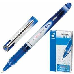Аксессуары и комплектующие для гитар - Ручка роллер PILOT BLN-VBG-5 «V-Ball Grip 05», корпус сине-серый, толщина письма, 0