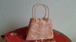 Рукоделие, поделки и товары для них - Декоративная корзинка-сумочка из сизаля, 0