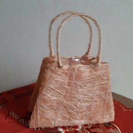 Рукоделие, поделки и сопутствующие товары - Декоративная корзинка-сумочка из сизаля, 0