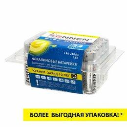 Батарейки - Батарейка AA SONNEN 24 шт Alkaline, АА(LR6, 15А), алкалиновые, пальчиковые, коро, 0