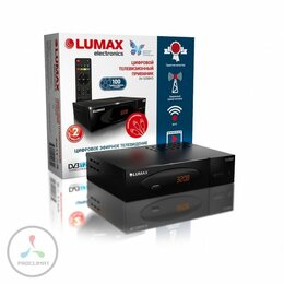 TV-тюнеры - Приставка для цифрового ТВ Lumax DV3208HD черный, 0