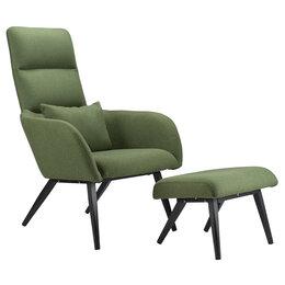 Кресла - Кресло с оттоманкой зеленое Berg Bridjet, 0