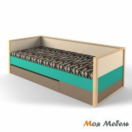 Комплектующие - Кровать нижняя с фальшпанелью универсальная аква «Робин Wood», 0