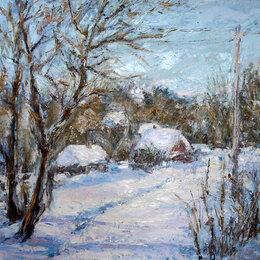 """Картины, постеры, гобелены, панно - Картина маслом """"Зимний день"""", 0"""