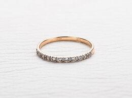 Кольца и перстни - Кольцо с 11 фианитами из красного золота, 0