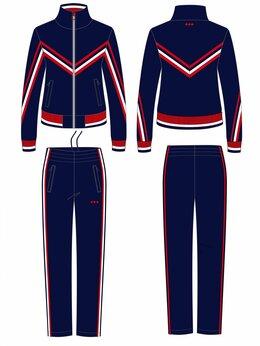 Спортивные костюмы - Женские спортивные костюмы темно-синие из…, 0