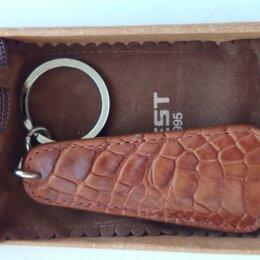 Брелоки и ключницы - Брелок для ключей, кожа крокодил,, 0