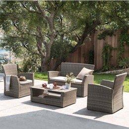 Комплекты садовой мебели - Комплект мебели с диваном AFM-405G Brown, 0