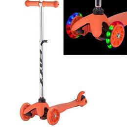 Самокаты - Самокат Foxx Disco-kids светящиеся колеса, оранж, 0